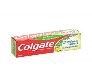 COLGATE лечебные травы отбеливающаяCOLGATE<br>Зубная паста COLGATE лечебные травы отбеливающая, 100 мл бережно очищает зубы, придавая им более светлый тон. Средство помогает сохранить здоровье полости рта за счет применения природных компонентов, чьи целебные свойства давно известны. В составе содержится экстракт лимона и полезные травы: мята, эвкалипт, мелисса. Фтор и кальций способствуют защите от кариеса и налета. После применения долго остается приятный запах, сохраняется чувство свежести. Удобный тюбик легко открывается и хранится. Приобрести зубную пасту COLGATE лечебные травы отбеливающую, 100 мл по привлекательной цене можно в Москве в торговом центре METRO. Производитель: Colgate-Palmolive, Китай. Состав: вода, осажденный карбонат кальция, сорбитол, оксид алюминия, лаурилсульфат натрия, монофторфосфат натрия, силикат натрия, триклогард, фтор, каррагенан, натриевая соль, сахаринат натрия, метилпарабен. Равномерно нанести зубную пасту на щетку. Чистить зубы в течение 4-5 минут. Объем: 100 мл.<br><br>Линейка: COLGATE лечебные травы отбеливающая<br>Объем мл: 100<br>Пол: Унисекс