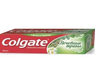 COLGATE лечебные травыCOLGATE<br>Зубная паста COLGATE Лечебные Травы, 100 мл популярна среди потребителей благодаря входящим в ее состав натуральным растительным компонентам с их полезными свойствами, которые помогают сохранить здоровье полости рта. В пасте Colgate Лечебные Травы прекрасно сочетаются научные знания и лучшие природные компоненты, применяемые много веков в народной медицине. В состав входят натуральные выдержки таких лечебных растений, как мирра, ромашка, шалфей и эвкалипт. Благодаря этим экстрактам паста хорошо справляется с бактериями, сохраняя крепость зубов и здоровье десен. Защита от кариеса обеспечивается за счет использования фтора и кальция. Состав: вода, осажденный карбонат кальция, сорбитол, оксид алюминия, лаурилсульфат натрия, монофторфосфат натрия, силикат натрия, экстракты ромашки, шалфея, мирры и эвкалипта, каррагенан, натриевая соль КМЦ, сахаринат натрия, метилпарабен, экстракты мелисы, фенхеля, мяты, красители. Срок годности: 3 года.<br><br>Линейка: COLGATE лечебные травы<br>Объем мл: 100г<br>Пол: Унисекс