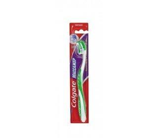 COLGATE Массажер мягкаяCOLGATE<br>Зубная щетка COLGATE Массажер, мягкая имеет гибкое основание головки с резиновыми чистящими щетинками по краям. За счет этого вы не только эффективно очищаете и полируете поверхность зубов, но и нежно массируете десны, улучшая кровообращение. Щетина расположена на разных уровнях, поэтому очистка даже самых отдаленных межзубных уголков станет эффективной. Щетка имеет удобную ручку обтекаемой формы с резиновыми вставками, которая не выскользнет даже из мокрых рук. COLGATE Массажер имеет стильный яркий дизайн. Модель в нескольких цветовых решениях: голубой, розовый, зеленый и фиолетовый. Приобретайте зубную щетку COLGATE Массажер, на выгодных условиях в Москве в торговом центре METRO. Жесткость щетины: мягкая. Тип упаковки: блистер. Страна-производитель: Германия.<br><br>Линейка: COLGATE Массажер мягкая<br>Пол: Унисекс