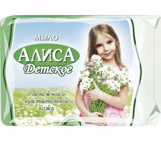 АЛИСААЛИСА<br>В составе мыла детского АЛИСА, 150г имеется экстракт тысячелистника и натуральный глицерин. Два этих компонента способствуют бережному очищению и увлажнению кожи, оказывают противовоспалительное воздействие. Кусковое детское мыло производится без использования красителей, отдушки и различных агрессивных компонентов, поэтому может применяться даже на чувствительной детской коже и подходит для детей любого возраста. Мыло детское АЛИСА, 150г в Москве всегда можно приобрести в торговом центре METRO по привлекательной цене. Вес изделия нетто: 150 г. Страна-производитель: Россия. Отдушка: без отдушки. Тип мыла: туалетное<br><br>Линейка: АЛИСА<br>Объем мл: 150г<br>Пол: Женский