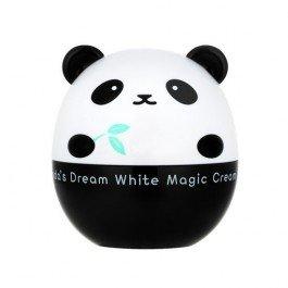 Pandas Dream White Magic Cream Tony MolyTony Moly<br>Отбеливающий крем для лица из серии продуктов Tony Moly Pandas Dream предназначен для тусклой, усталой кожи с темным тоном и различной пигментацией. Pandas Dream White Magic Cream крем эффективно выравнивает текстуру и тон кожи, осветляет пигментные пятна, веснушки, следы пост-акне и др., придает коже гладкость и сияющий вид. В состав крема входит ниацинамид (витамин В3) - средство для осветления кожи и контроля выработки меланина. Он способствует улучшению текстуры кожи, обладает противовоспалительными свойствами, повышает иммунитет кожи, уменьшает возникновение опухолей кожи, усиливает обменные процессы и сокращает количество морщин и их глубину. Также с в составе экстракт и сок бамбука, которые содержат сильные антиоксиданты, аминокислоты, хлорофилл и витамин С, стимулирующий синтез кожей собственного коллагена. Активные компоненты: экстракт бамбука укрепляет стенки сосудов, повышает их эластичность и тонус, усиливает кровоснабжение тканей, снижает проницаемость капилляров и обладает противоотечным действием. Он удерживает влагу и защищает кожу от сухости, способствует повышению упругости и эластичности кожи; масло Ши усиливает процессы регенерации кожи, заживляет воспаления и повышает защитные свойства кожи, а экстракт меда, интенсивно увлажняет кожу, обладает смягчающим и отшелушивающим действием, улучшает цвет лица и выравнивает текстуру кожи. Крем имеет легкую текстуры, отлично ложится на кожу и быстро впитывается. Может использоваться под макияж. Не содержит парабены, бензофенон и искусственные красители и подходит для всех типов кожи, включая чувствительную. Способ применения: нанести крем на кожу в качестве завершающего этапа ухода, распределить по лицу массажными движениями.<br><br>Линейка: Pandas Dream White Magic Cream Tony Moly<br>Объем мл: 50<br>Пол: Женский