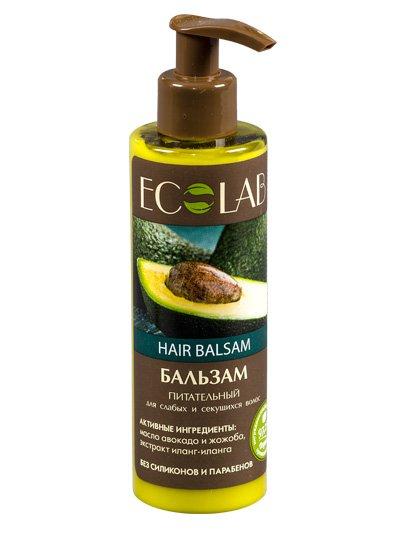 Питательный EcolabEcolab<br>Производство: Россия Зародыши пшеницы, жожоба и гибискус наполняют волосы жизненной силой и блеском, витаминизируют и защищают от разрушающих внешних факторов.<br>        <br> Натуральная формула шампуня включает  97% растительных компонентов, органических масел и экстрактов без силиконов, SLS, парабенов. В составе продукта жожоба (масло), зародыши пшеницы (органомасло), гибискус (экстракт), способные восстанавливать и укреплять поврежденные волосы, защищать их от вредных воздействий (фен, ультрафиолет). Продукция ECOLAB изготовлена на природных консервантах и красителях. <br> Авокадо (масло) питает и укрепляет луковицы, оживляет эластичность и блеск волос;  Иланг-иланг (органический экстракт) нормализует гидробаланс  кожи, смягчая волосы;  Жожоба (масло) формирует на волосах невидимую плёнку для удержания влаги и защиты от вредных воздействий.Состав шампуня указан на упаковке.<br> <br>    <br><br>Линейка: Питательный Ecolab<br>Объем мл: 250<br>Пол: Женский
