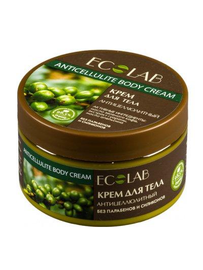 Антицеллюлитный EcolabEcolab<br>Производство: Россия Кунжутное масло в сочетании с каритэ великолепно смягчает и питает тело, придавая нежность и гладкость.<br>        <br>Антицеллюлитный крем для тела с формулой целебных масел на 98% состоит из растительных компонентов. Кунжут в сочетании с каритэ великолепно смягчает и питает тело. Продукция ECOLAB изготовлена на природных консервантах и красителях без применения силиконов, SLS, парабенов.  <br>Апельсин и зеленый кофе (масло) стимулируют природные процессы организма к самостоятельному избавлению от подкожного жира, ускоряют синтез эластина и нормализует количество жидкости, накапливающейся внутри клеток;  Гуарана (экстракт) повышает гемодинамику и упругость кожи, устраняет рыхлость  и выравнивает рельеф тела. Состав крема указан на упаковке.<br><br>Линейка: Антицеллюлитный Ecolab<br>Объем мл: 250<br>Пол: Женский