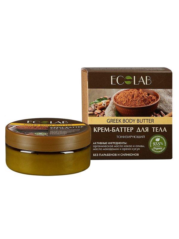 Интенсивное восстановление EcolabEcolab<br>Производство: Россия Органическое какао-масло интенсивно обогащает клетки, оживляя и возвращая коже природный тонус.<br>        <br>Тонизирующий крем-баттер ECOLAB для тела с оливой и<br>макадамией. Органическое какао-масло в формуле крема<br>интенсивно обогащает клетки, оживляя и возвращая коже природный тонус. Состав продукта – растительные компоненты (97%), законсервированные натуральными веществами и красителями без парабенов, силиконов, SLS. Олива (органическое масло) глубоко насыщает кожу питанием и влагой, не забивая поры, препятствует обезвоживанию.  Макадамия  (масло) известна своим оживляющим действием, возвращает телу природный тонус, упругость и мягкость..<br> Орех кукуи (масло) витаминизирует и омолаживает тело. Состав крема – на упаковке. <br> <br>    <br><br>Линейка: Интенсивное восстановление Ecolab<br>Объем мл: 150<br>Пол: Женский