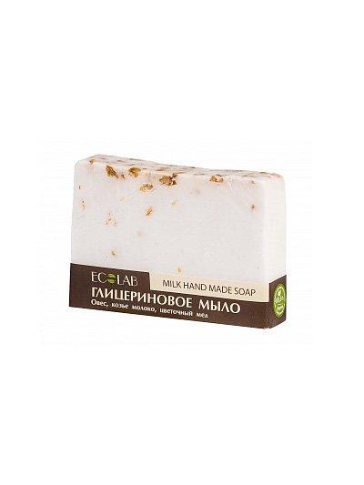 Milk Soap EcolabEcolab<br>Производство: Россия Глицериновое мыло ECOLAB c козьим молоком и хлопьями овса. Состав обогащён цветочным мёдом.<br>        <br> Глицериновое мыло ECOLAB c козьим молоком и хлопьями овса. Изготовлено вручную. Продукт обогащён цветочным мёдом. Отлично смягчает и заживляет кожу рук, оказывает омолаживающее действие.Состав продукта указан на упаковке.  <br>    <br><br>Линейка: Milk Soap Ecolab<br>Объем мл: 130<br>Пол: Унисекс