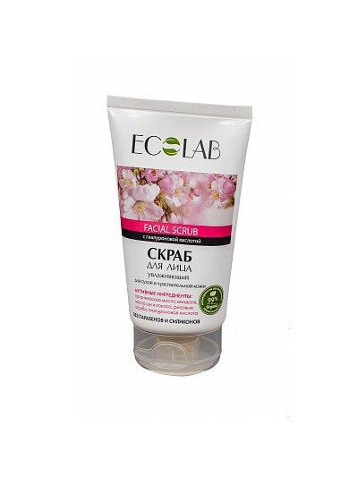 Увлажняющий для сухой и чувствительной кожи EcolabEcolab<br>Производство: Россия Скраб ECOLAB с маслом каритэ и миндаля сделает кожу лица увлажненной и эластичной. Состав продукта  – природные компоненты (99%).<br>        <br>Скраб ECOLAB с маслом каритэ и миндаля сделает кожу лица увлажненной и эластичной. Состав продукта  – природные компоненты (99%) без парабенов и силиконов.Миндаль (органическое масло) обладает прекрасными смягчающими и регенерирующими качествами, тонизирует и освежает цвет лица, даруя коже гладкость и эластичность. Содержит витамины Е, А, F в большом количестве; Каритэ (органическое масло) и кокос обогащают и возрождают кожу, повышают упругость и эластичность; Рисовые отруби прекрасно отшелушивают старые клетки, помогая коже обновляться; Гиалуроновая кислота нормализует гидробаланс кожи, заполняя морщины, придаёт лицу гладкость и упругость.Состав и применение продукта смотрите на упаковке. <br>    <br><br>Линейка: Увлажняющий для сухой и чувствительной кожи Ecolab<br>Объем мл: 150<br>Пол: Женский