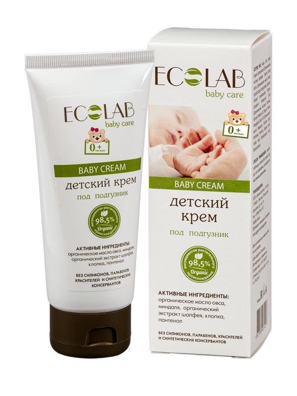 Под подгузник EcolabEcolab<br>Производство: Россия Детский крем «0 +» с экстрактом шалфея и миндальным маслом – незаменимое средство для малышей.<br>        <br> Детский крем «0 +» с экстрактом шалфея и миндальным маслом – незаменимое средство в первые месяцы жизни малыша. Смягчает и восстанавливает раздражённую подгузником кожу и ЗАЩИЩАЕТ от этого в дальнейшем при постоянном использовании. Масло овса с хлопком отлично смягчает и успокаивает восприимчивую кожу малыша, укрепляя её защитный  барьер. Шалфей, богатый флавонидами  и дубильными элементами,  быстро заживляет ранки и раздражения.  Рекомендуется для новорожденных. Состав продукта  – натуральные компоненты (98%) без  парабенов,  силиконов,  искусственных красителей и консервантов.  Овёс (органический экстракт) насыщает  и успокаивает чувствительную кожу ребёнка; Миндаль (органическое масло) деликатно очищает и смягчает кожу; Шалфей (органический экстракт) обогащает и тонизирует, снимает  зуд и воспаления, дезинфицирует и защищает кожу от внешних факторов; Хлопок (органический экстракт) действует смягчающе, не допуская аллергических реакций;  Пантенол не допускает пеленочного дерматита и опрелостей. Состав крема ищите на упаковке. <br> <br>    <br><br>Линейка: Под подгузник Ecolab<br>Объем мл: 100<br>Пол: Женский