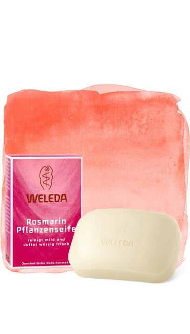 WeledaWeleda<br>Производство: Германия Подходит для бережного очищения кожу рук и тела. Розмариновое растительное мыло от Weleda очищает кожу и ухаживает за ней. Мыло образует нежную кремовую пену и особенно подходит для использования утром. Эфирное розмариновое масло в сочетании с другими натуральными эфирными маслами придает мылу тонкий, неповторимый аромат. Розмарин активизирует кровообращение, кожа приобретает свежесть и естественный здоровый оттенок.Способ применения: нанести на кожу во время мытья рук. Тщательно смыть водой.<br><br>Линейка: Weleda<br>Объем мл: 100<br>Пол: Унисекс