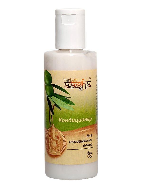 AashaAasha<br>Производство: Дания Отлично тонизирует, придает объем и облегчает укладку. Питательная олива, достигая корней  волос, интенсивно насыщает и ускоряет их рост, восстанавливает метаболизм клеток.<br>        <br>Кондиционер AASHA Herbals с аюрведическими травами, обогащенный провитамином В5, заботливо ухаживает за крашеными волосами.Отлично тонизирует, придает объем и облегчает укладку. Питательная олива, достигая корней волос, интенсивно насыщает и ускоряет их рост, восстанавливает метаболизм клеток.<br>Протеины сои &amp;ndash; источник белков и аминокислот &amp;ndash; наделяют волосы здоровьем и силой, укрепляют структуру и обеспечивают однородность волосяного стержня, заполняя его разрушенные участки. Провитамин В5 создает защиту волос от потери влаги и смывания цвета. Ваша шевелюра приобретает пышность, упругость и блеск.<br>Продукт для ежедневного кондиционирования любых волос.<br>Способ применения: вымойте волосы. Нанесите кондиционер на влажные волосы, распределите по всей длине, слегка помасируйте. Оставте на 2-4 минуты. Промойте волосы теплой водой. При попадании кондиционера в глаза, тщательно промойте водой.<br>Состав:Дистиллированная вода, экстракт Оливы, протеин Сои, провитамин В5, бензовенон (уф-фильтр), кокамидопропиловый бетаин, карбомер, изопропилпальмитат, пропилен гликоль, полисорбат-20, триэтаноламин, лимонная кислота.<br>Активные компоненты:<br><br>Олива (экстракт), богатая антиоксидантами и каротином, укрепляет клеточные мембраны, останавливая выпадение и поддерживая рост волос, стимулирует метаболизм клеток. Имея антисептические и противогрибковые свойства, защищает здоровую кожу головы от бактерий.<br>Протеины сои интенсивно насыщают волосы питанием и влагой, оздоравливают кожу головы. Оживляют структуру волосяного стержня.<br>Провитамин В5 предотвращает обезвоживание волос, сохраняет интенсивность цвета и придает прическе пышность и блеск, надолго сохраняя её форму. Успокаивает раздражения и воспаления, усиливает регенерацию клеток