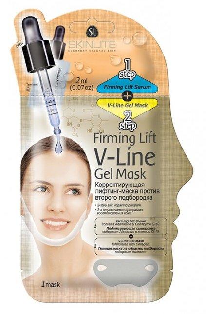 SkinliteSKINLITE<br>Корректирующая маска-лифтинг Skinlite активно борется с двойным подбородком. Тончайшая текстура глубоко проникает в кожу,  интенсивно восстанавливая её упругость за счёт коэнзимов Q-10 и аденозина.<br>        <br> Профессиональная забота о коже, не выходя из дома, теперь это стало возможным! Новая корректирующая маска-лифтинг Skinlite эффективно борется с двойным подбородком! Укрепление происходит в два этапа – применение активной сыворотки для подтяжки  + маска-лифтинг для повышения тонуса дряблой кожи.  Шаг 1. Сыворотка с тончайшей текстурой глубоко проникает в кожу,  интенсивно восстанавливая её упругость за счёт коэнзимов Q-10 и аденозина.  Шаг 2. Гелевая маска  интенсивно восстанавливает дряблую кожу шеи, уменьшая  двойной подбородок или препятствуя его появлению. Восстанавливает тонус стареющей кожи, исправляя контуры лица. Специальный состав маски натягивает кожу в зоне подбородка,  усиливая эффект лифтинга после предварительного нанесения сыворотки. В результате повышается микроциркуляция крови в этой зоне и уменьшается отечность, овал лица корректируется и укрепляется. Сыворотку ровным слоем наносят на очищенную сухую шею и подбородок. Сверху накладывают гелевую маску, начиная с подбородка и разглаживая к краям, чтобы удалить воздух. Все это оставляют на полчаса или всю ночь. Остатки маски смывают водой.   Состав продукта и советы по применению ищите на упаковке. <br> <br>    <br><br>Линейка: Skinlite<br>Объем мл: 20<br>Пол: Женский