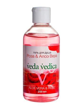 Роза-Алое вера Veda VedicaVeda Vedica<br>Производство: Дания «Роза-Алое вера» – уникальный увлажняющий гель с аюрведическими травами, поддерживающий тонус кожи. Отлично матирует тело, устраняя жирный блеск. Алое вера обезжиривает кожу и глубоко очищает поры. Обеспечивает мощное увлажнение, ликвидируя шелушение и сухость. Роза – освежитель и тоник, повышает микроциркуляцию и обменные процессы в клетках. Быстро разглаживает и умягчает кожу. Снимает воспаления и охлаждает. Освежает кожу, наполняя её тонким ароматом. Натуральный продукт Veda-Vedica , годится для любой кожи. Активные компоненты Роза — традиционное средство для омоложения кожи, тонизирует и подтягивает, освежает и слегка стягивает поры, качественно очищает и увлажняет. Является антиоксидантом и антисептиком.Алое барбадосское — мощный натуральный увлажнитель, поддерживающий уровень влаги в коже, устраняет сухость, шелушение, раздражения, зуд и отёчность. Имеет выраженные вяжущие свойства и заживляет ранки, очищает и уменьшает поры, устраняет жирный блеск, борется с грибком и бактериями.<br><br>Линейка: Роза-Алое вера Veda Vedica<br>Объем мл: 250<br>Пол: Унисекс