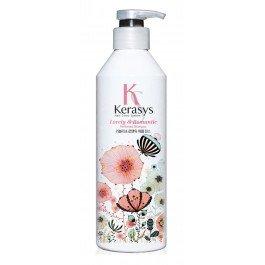 Романтик KerasysKERASYS<br>Кондиционер для поврежденных волос, восстанавливает структуру волос по всей длине. Уменьшает сечение и ломкость. Волосы обретают жизненную силу, блеск и эластичность.<br>На 58% больше защиты от солнечного воздействия. Восполняет недостаток собственного белка в структуре волос.<br>Действие: Бальзам очень красиво пахнет. Романтичный и чувственный аромат, едва уловимые нотки жасмина и магнолии подарят ощущение счастья и блаженства.<br>Парфюмерная композиция:<br><br>Начальная нота: цветы апельсина, цветы белого персика, фрезия<br>Средняя нота: жасмин, магнолия, маргаритка, ландыш<br>Конечная нота: кедр, белый мускус, амбра<br><br>Способ применения: нанести бальзам-ополаскиватель на чисте влажные волосы и оставить на 5-10 минут, затем смыть водой.<br>Состав: <br><br>масло оливы. <br>масло ши.<br><br><br>Линейка: Романтик Kerasys<br>Объем мл: 600<br>Пол: Женский