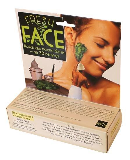 Fresh Face, 6 процедур БиобьютиБиобьюти<br>Производство: Россия Скраб для глубокой очистки кожи. Без консервантов и химии. Снижает риск появления воспалений, уменьшает угревую сыпь и риск ее возникновения.<br>Уникальный скраб-эксфолиант для лица для ежедневного умывания и очищения кожи на глубоком уровне. Деликатно убирает внешние загрязнения, комедоны, угревую сыпь, чрезмерную жирность, увлажняет на клеточном уровне.&amp;nbsp;<br>Использование скраба &amp;laquo;Fresh Face&amp;raquo; при лечении угревой сыпи может заменить походы к косметологу и использование химических противоугревых средств по нескольким причинам:<br><br>ежедневное умывание со скрабом нормализует салоотделение и устраняет устьевые пробки, закупоривание сальной железы прекращается,<br>скраб мягко отшелушивает мертвые клетки, не давая им смешаться с салом и образовать пробку на сальной железе,<br>скраб содержит ионы серебра и меди{cсылки на страницы про эти вещества}, что оказывает дезинфицирующий эффект, он убивает болезнетворные бактерии и микробы (по опытам на 35% эффективнее мыла, в сочетании с биомаской на 45% эффективнее) и держится в течение суток,<br>скраб содержит медь, магний, калий и кальций, что помогает коже быстро восстановить нарушенный воспалением слой эпидермиса. Это повышает сопротивляемость кожи к негативным внешним воздействиям и позволяет избежать шрамов и рубцов после угревой сыпи,<br>при регулярном использовании, скраб повышает иммунитет кожи, она лучше сопротивляется внешним атакам, т.&amp;nbsp;к. теперь у нее восстановлен наружный защитный слой, на ней меньше болезнетворных бактерий и кожное сало выполняет дополнительную функцию защиты.<br><br>По результатам применения скраба &amp;laquo;Fresh Face&amp;raquo; нашими покупателями для лечения угревой сыпи, можно утверждать, что он поможет вам быстро избавится от угревой сыпи даже в случаях, когда вы уже перепробовали все средства.<br>Состав скраба Fresh Face для нормальной и жирной кожи лица:100% натуральный состав:&amp;nbsp;пр