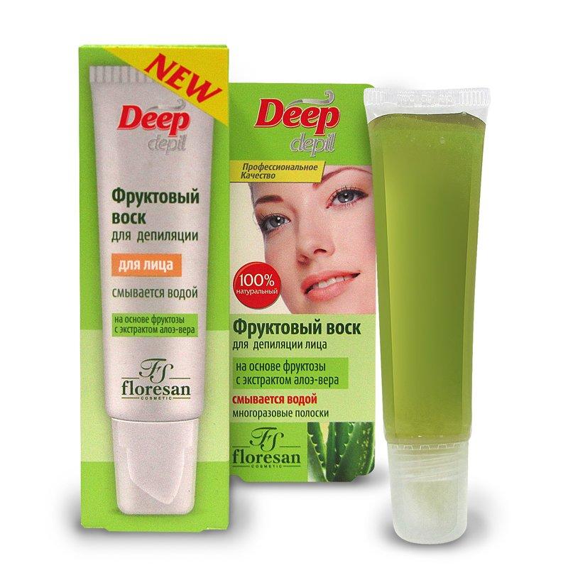 Deep depil Воск для депиляции лица с экстрактом Алоэ-Вера Флоресан 15 мл (жен)