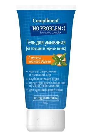 Problem Гель для умывания с маслом чайного дерева ComplimentCompliment<br>Производство: Россия &amp;lt;p&amp;gt;Благодаря&amp;lt;strong&amp;gt; маслу чайного дерева&amp;lt;/strong&amp;gt; гель:&amp;lt;br /&amp;gt;- обеспечивает глубокое антибактериальное очищение проблемной кожи;&amp;lt;br /&amp;gt;- сужает поры, препятствуя попаданию в них бактерий и возникновению прыщей, угрей и черных точек;&amp;lt;br /&amp;gt;- предотвращает появление жирного блеска на лице в течение дня.&amp;lt;/p&amp;gt;.<br>        <br>Благодаря маслу чайного дерева гель:<br><br>обеспечивает глубокое антибактериальное очищение проблемной кожи;<br>сужает поры, препятствуя попаданию в них бактерий и возникновению прыщей, угрей и черных точек;<br>предотвращает появление жирного блеска на лице в течение дня.<br><br><br>Линейка: Problem Гель для умывания с маслом чайного дерева Compliment<br>Объем мл: 200<br>Пол: Женский