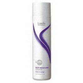 Mousture Шампунь увлажняющий LondaLonda<br>Производство: Германия Шампунь для увлажнения Londa Deep Moisture Shampoo деликатно, но эффективно очищает волосы от любых загрязнений, обеспечивая интенсивное увлажнение волос по всей длине, включая кончики волос. Содержит в составе экстракт фрукта манго и натуральный мед, делая волосы невероятно мягкими. Облегчает процесс расчесывания, устраняя проблему спутанности и снимая электризованность волос.&amp;nbsp;<br>Подходит для частого применения и ухода за тусклыми, сухими, иссушенными волосами. Возвращает волосам естественный блеск и природную эластичность. Обладает УФ-защитой от солнечного отрицательного воздействия. Регулирует кожный баланс.<br>Способ применения:&amp;nbsp;нанести на мокрые волосы, после мытья, тщательно смыть остатки шампуня с волос. Рекомендуется использовать с&amp;nbsp;увлажняющим спреем-кондиционером Londa Professional.<br><br>Линейка: Mousture Шампунь увлажняющий Londa<br>Объем мл: 1000<br>Пол: Женский