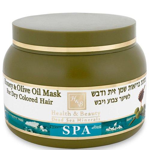 Health&amp; BeautyHealth &amp; Beauty<br>Производство: Израиль Эта маска, обогащенная минералами Мертвого моря, содержит оливковое масло, известное своими полезными свойствами, обеспечивающими увлажнение, питание, восстановление, кондиционирование.<br>        <br>Показания: эта маска, обогащенная минералами Мертвого моря, содержит оливковое масло, известное своими полезными свойствами, обеспечивающими увлажнение, питание, восстановление, кондиционирование, и концентрированный экстракт меда, противодействующий процессам естественного окисления. Маска обогащена витаминами В5 и Е, это уникальное сочетание компонентов обеспечивает вашим волосам восстановление и защищает от будущих повреждений, наносимых холодным ветром, солнцем и химической обработкой, например, укладкой волос, окраской, осветлением, выпрямлением и многим другим.<br>Действие: минералы Мертвого моря крайне эффективно воздействуют на кожу головы, ускоряя кровообращение, укрепляя сосуды и стимулируя рост волос. Минералы тонизируют кожу головы, способствуют ее регенерации, оказывают антибактериальное действие, заживляя порезы и препятствуя появлению перхоти, грибка и сыпи.<br>Экстракт меда обеспечивает шелковистый блеск, питает и увлажняет кутикулу, предотвращает ломкость волос, восстанавливает водный баланс кожи головы. Экстракт меда особенно полезен для ослабленных волос, потерявших здоровый вид и объем.<br>Оливковое масло &amp;ndash; жидкое золото в косметологии, разглаживает, укрепляет корни волос, придает блеск, ускоряет рост, питает и восстанавливает луковицы волос, придает пышность и объем. Пантенол глубоко увлажняет волосы и кожу головы, связывая большое количество молекул воды и запечатывая волос тонкой пленкой, препятствующей испарению влаги и вымыванию пигментов краски.<br>Способ применения:&amp;nbsp;после мытья шампунем, отжать лишнюю воду из волос, щедро нанести на волосы, начиная с корней по направлению к концам, через пять минут хорошо прополоскать в теплой воде.<br>Активные ингредиенты: мине