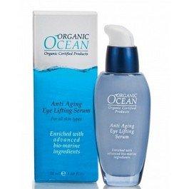 Organic OceanOrganic Ocean<br>Производство: Израиль &amp;lt;p&amp;gt;Антивозрастная сыворотка с эффектом лифтинга для контура глаз Organic Ocean направлена на коррекцию возрастных изменений.&amp;lt;/p&amp;gt;.<br>        <br>Антивозрастная сыворотка с эффектом лифтинга. Сыворотка быстро впитывается, не оставляя ощущения жирности, подходит для чувствительной кожи. Экстракт морской водоросли алярия стимулирует синтез коллагена и эластина; Активный омолаживающий комплекс Изильянс обладает мгновенным лифтинговым эффектом, разглаживает кожу, мелкие морщинки исчезают, глубина морщин сокращается; Органические масла и растительные экстракты сенегальской акации, катрана приморского, люцерны, сквалена, алоэ вера, оливы, жожоба ускоряют регенерацию клеток кожи, в результате чего кожа вокруг глаз выглядит молодой и здоровой.<br>Способ применения: нанести сыворотку в небольшом количестве после очищения и тонизирования кожи.<br>Состав: cок листьев алоэ, Изильянс глицерин растительный, пропандиол, сенегальская акация (ксантановая камедь), триглицерид каприлик, катрана приморского экстракт, алярии экстракт, экстракт люцерны, вода, цетеарил гликозидов отрубей пшеницы, сквален, масло жожоба, оливковое масло, токоферола ацетат, бисаболол, глицерил стеарат цитрат, изоамиловый лаурат, п-анисовая кислота, бензойная кислота, бензиловый спирт, бензил бензонат, бензил салицилат, цитраль, цитронеллол, фарнезол, гераниол, лимонен, линанол.<br><br>Линейка: Organic Ocean<br>Объем мл: 30<br>Пол: Женский