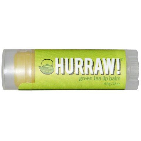 Hurraw! Green Tea Lip Balm Hurraw!Hurraw!<br>Необычный бальзам с тонким запахом зеленого чая. Отличается высоким содержанием жирных кислот. Это что-то новое среди бальзамов!<br>Он питает, делает губы наиболее мягкими и нежными. Обладает свойствами зеленого чая &amp;ndash; это отличный антиоксидант.<br>Экстракт зеленого чая, входящий в состав, укрепляет, тонизирует, успокаивает и защищает от действия свободных радикалов. Входящие в состав масла конопли и кокоса способствует быстрому устранению сухости в зимнее и летнее время. <br>Купить  Hurraw! Бальзам для губ Hurraw! Green Tea Lip Balm в интернет-магазине Euro-cosmetics.ru: позвонив по телефонам +7 (495) 369-06-79,<br> 8 (800) 301-03-75, написав на почту sale@euro-cosmetics.ru, или через корзину на сайте.<br><br>Линейка: Hurraw! Green Tea Lip Balm Hurraw!<br>Объем мл: 4,3<br>Пол: Женский