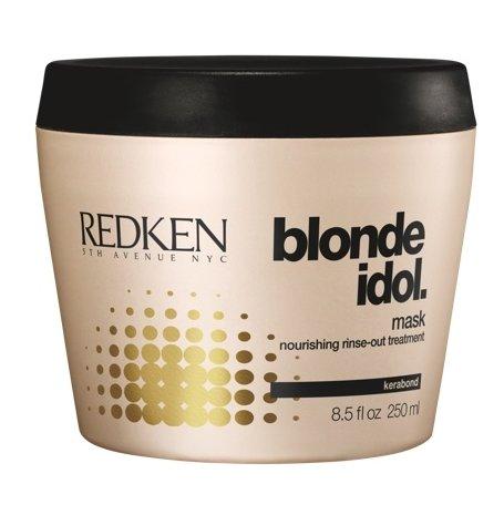 RedkenRedken<br>Производство: США Средство предназначено для осветленных или светлых от природы волос. Маска укрепит корни, разгладит кутикулу, придаст локонам блеск и упругость. Целебные компоненты маски улучшают внешний вид и оздоравливают волосы.<br>Превосходная восстанавливающая маска Редкен, формула которой составлена с учетом специфики светлых волос - как натуральных, так и осветленных с использованием специальных химических составов. Блондинки нередко жалуются на истончение волос, а что еще хуже, на расслоение и посечение, особенно кончиков. Чтобы эти неприятные признаки остались в прошлом,&amp;nbsp;советуем купить&amp;nbsp;маску Redken, представленную в&amp;nbsp;линии косметики Blonde Idol.<br>Активные компоненты:<br><br>молочная кислота&amp;nbsp;- смягчает кутикулу, помогает максимальному усвоению питательных веществ;<br>экстракт листьев фиалки&amp;nbsp;- кладезь питательных и увлажняющих компонентов, а также источник антиоксидантов, крайне необходимых волосам, регулярно испытывающим стресс от окрашивания.<br>kerabond - главный компонент системы Kera-Bright, созданной специалистами бренда Редкен специально для насыщения стержней волос кератином.<br><br>Результат: сухие окрашенные светлые волосы стали гибкими и приобрели живой блеск. Натуральные блондинки отметят, что локоны стали выглядеть ухоженными, мягкими и сильными.<br>Способ применения: вымыть волосы шампунем&amp;nbsp;Редкен Блонд Айдол, промокнуть волосы полотенцем и нанести маску Редкен Блонд Айдол. Время воздействия от пяти до пятнадцати минут. Маску смыть.<br><br>Линейка: Redken<br>Объем мл: 250<br>Пол: Женский
