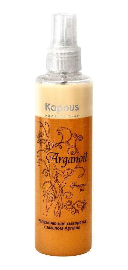 Arganoil KapousKapous<br>Производство: Италия Двухфазная сыворотка на основе масла Арганы, кератина и молочной аминокислоты разработана специально для увлажнения и восстановления волос всех типов.&amp;nbsp;Уникальная формула эффективно защищает волосы от негативного воздействия агрессивных факторов внешней среды, обеспечивая интенсивное увлажнение.Масло Арганы богато полиненасыщенными жирными кислотами, которые оказывают продолжительный увлажняющий эффект и укрепляют волосы, делая их более эластичными и блестящими.Природные антиоксидантыполифенолы и токоферолы защищают волосы от воздействия свободных радикалов, витамины А и Е стимулируют усиленную регенерацию клеток, реконструируют внутреннюю структуру, максимально напитывая волосы и возвращая эластичность и силу.Молочная аминокислота способствует процессам регенерации и обновлению клеток кожи и является регулятором гидробаланса кожи головы и волос.УФ-фильтры защищают волосы от негативного воздействия солнца, тем самым предотвращая преждевременное выгорание цвета, что сохраняет цвет окрашенных волос насыщенным.Результат:&amp;nbsp;при регулярном применении сыворотка защищает волосы от ежедневного стресса, облегчает их расчесывание, делает их послушными, мягкими и здоровыми, придавая им сияющий блеск и многогранный цвет.Способ применения: перед применением хорошо встряхнуть бутылку для смешения двух фаз и равномерно нанести небольшое количество сыворотки на вымытые, подсушенные полотенцем волосы, уделяя особое внимание наиболее поврежденным участкам, не смывать. Предназначена для использования после каждого мытья. Допускается наносить на сухие волосы.<br><br>Линейка: Arganoil Kapous<br>Объем мл: 200<br>Пол: Женский