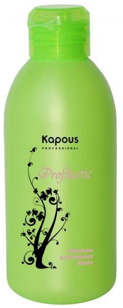 Profilactic KapousKapous<br>Производство: Италия Шампунь для жирных волос серии Profilactic разработан для деликатного очищения волос и кожи головы.&amp;nbsp;Имеет легкую текстуру и приятный аромат винограда.<br>Состав шампуня для жирных волос серии Profilactic&amp;nbsp;обеспечивает глубокое очищение волос и необходимое увлажнение.&amp;nbsp;Применение данного шампуня&amp;nbsp;нормализует работу сальных желез.<br>Шампунь обладает противовоспалительным и успокаивающим действием, поддерживает гидролипидный баланс кожи головы, волосы приобретают&amp;nbsp;эластичность.<br>Идеально подходит для ежедневного использования.<br>Биологический экстракт апельсина, входящий в состав шампуня,&amp;nbsp;содержит богатый комплекс питательных веществ и витаминов, благодаря этому снижается чрезмерная активность сальных желез и уменьшается засаливание волос.<br>Результат:<br><br>применение шампуня повышает устойчивость волос к внешним агрессивным факторам окружающей среды.<br>волосы вновь становятся легкими, пышными и приобретают здоровый и красивый вид.<br><br>Способ применения:<br><br>небольшое количество шампуня нанести на влажные волосы и равномерно распределить по всей длине.<br>мягкими движениями промассировать кожу головы в течение 1 минуты, смыть.<br>затем повторно нанести шампунь и оставить на 2-3 минуты.<br>по окончании процедуры тщательно прополоскать волосы.<br><br><br>Линейка: Profilactic Kapous<br>Объем мл: 250<br>Пол: Женский