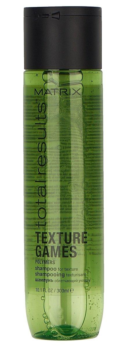 MatrixMatrix<br>Производство: США Шампунь с полимерами помогает подчеркнуть текстуру стрижек и вьющихся волос. Бережно очищает от остатков укладочных средств и придает свежесть.<br>Результат: волосы структурированы и подготовлены к последующей укладке.<br>Способ применения: нанести на влажные волосы. Вспенить. Смыть водой. Затем использовать кондиционер ТЭКСЧЭР ГЕЙМЗ. При попадании в глаза немедленно промыть водой.<br><br>Линейка: Matrix<br>Объем мл: 300<br>Пол: Женский