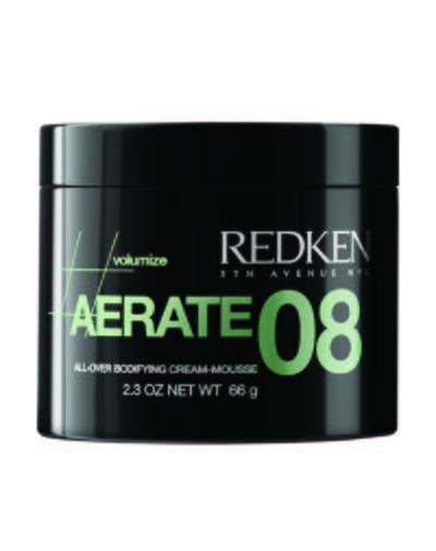 RedkenRedken<br>Производство: США Redken Aerate 08&amp;nbsp;крем-мусс для объема рекомендован для стайлинга волос любого типа. Не утяжеляет локоны, придает волосам мягкость и стойкий объем, визуально увеличивает густоту и плотность волос.<br><br>Целлюлоза и активные компоненты обеспечивают упругость прически, сохраняя ее естественную подвижность.<br>Ультрафиолетовые фильтры защищают волосы от воздействия солнечных лучей, поэтому мусс можно применять на окрашенных волосах для защиты цветового пигмента.<br><br>Специальные термозащитные компоненты оберегают волосы от негативного воздействия термоукладочных приборов. Волосы в локонах не склеиваются, не приобретают жирный блеск, выглядят естественно и эффектно даже в условиях повышенной влажности.&amp;nbsp;<br>Показания к применению: волосы любого типа, особенно тонкие.&amp;nbsp;<br>Способ применения: крем-мусс рекомендуется наносить на корни волос перед укладкой.<br><br>Линейка: Redken<br>Объем мл: 125<br>Пол: Женский