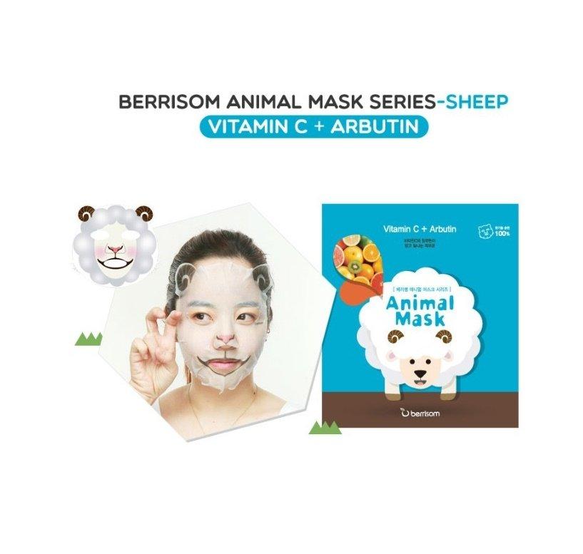 Animal mask series - Sheep BerrisomBerrisom<br>Продукт сочетает в себе ухаживающий комплекс и заряд хорошего настроения, каждая маска серии украшена забавными мордашками животных. Следует отметить, что рисунок на маске выполнен экологически чистыми и безопасными для здоровья красками, а основа маски изготовлена из нежнейшего натурального хлопка, поэтому вы можете не бояться, что маска вызовет раздражение или аллергическую реакцию.<br>Sheep &amp;ndash; осветляющая маска, эффективно выравнивающая тон кожи и устраняющая пигментные пятна. Содержит витамин С, арбутозид и ниацинамид.&amp;nbsp;<br>Состав каждой маски серии&amp;nbsp;Animal Mask Series&amp;nbsp;различен, но в общую формулу включена чистейшая ледниковая вода, содержащая полезнейшие для кожи микроэлементы и обладающая тонизирующим и освежающим воздействием, а также керамиды. Эти вещества обладают способностью восстанавливать водно-жировой баланс и интенсивно увлажнять кожу, благодаря чему сухая и огрубевшая кожа восстанавливает защитные свойства, становится гладкой и упругой.&amp;nbsp;<br>Способ применения: перед использованием маски рекомендуется тщательно очистить кожу с использованием пенки и скраба. Расправьте тканевую основу маски и аккуратно наложите ее на лицо. Через 15-20 минут снимите маску и нанесите на лицо ухаживающий крем.<br><br>   Корейские маски Berrisom Animal. Обзор звериной линейки! <br><br>Смотрите все масочки у нас:<br>http://www.euro-cosmetics.ru/brand/berrisom <br>Дата загрузки:2016-09-25T16:13:00<br><br>Линейка: Animal mask series - Sheep Berrisom<br>Объем мл: 25<br>Пол: Женский