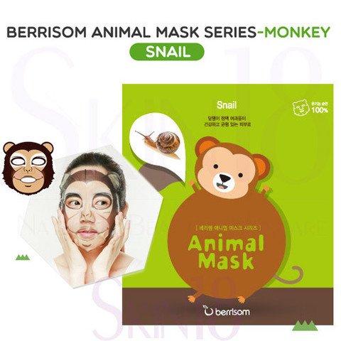 Animal mask series - monkey BerrisomBerrisom<br>Monkey – питательная маска, повышающая эластичность кожи. Содержит экстракт улиточной слизи. Рисунок на маске выполнен экологически чистыми и безопасными для здоровья красками, а основа маски изготовлена из нежнейшего натурального хлопка, поэтому вы можете не бояться, что маска вызовет раздражение или аллергическую реакцию.<br>        <br>Продукт сочетает в себе ухаживающий комплекс и заряд хорошего настроения, каждая маска серии украшена забавными мордашками животных. Следует отметить, что рисунок на маске выполнен экологически чистыми и безопасными для здоровья красками, а основа маски изготовлена из нежнейшего натурального хлопка, поэтому вы можете не бояться, что маска вызовет раздражение или аллергическую реакцию.<br>Monkey &amp;ndash; питательная маска, повышающая эластичность кожи. Содержит экстракт улиточной слизи.&amp;nbsp;<br>Состав каждой маски серии&amp;nbsp;Animal Mask Series&amp;nbsp;различен, но в общую формулу включена чистейшая ледниковая вода, содержащая полезнейшие для кожи микроэлементы и обладающая тонизирующим и освежающим воздействием, а также керамиды. Эти вещества обладают способностью восстанавливать водно-жировой баланс и интенсивно увлажнять кожу, благодаря чему сухая и огрубевшая кожа восстанавливает защитные свойства, становится гладкой и упругой.&amp;nbsp;<br>Способ применения: перед использованием маски рекомендуется тщательно очистить кожу с использованием пенки и скраба. Расправьте тканевую основу маски и аккуратно наложите ее на лицо. Через 15-20 минут снимите маску и нанесите на лицо ухаживающий крем.<br><br>   Корейские маски Berrisom Animal. Обзор звериной линейки! <br><br>Смотрите все масочки у нас:<br>http://www.euro-cosmetics.ru/brand/berrisom <br>Дата загрузки:2016-09-25T16:13:00<br><br>Линейка: Animal mask series - monkey Berrisom<br>Объем мл: 25<br>Пол: Женский
