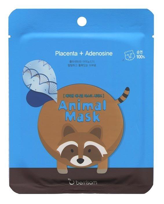 Animal mask series - raccoon BerrisomBerrisom<br>Raccoon – омолаживающая маска с лифтинг-эффектом. Содержит экстракт плаценты и аденозин. Рисунок на маске выполнен экологически чистыми и безопасными для здоровья красками, а основа маски изготовлена из нежнейшего натурального хлопка, поэтому вы можете не бояться, что маска вызовет раздражение или аллергическую реакцию.<br>        <br>Продукт сочетает в себе ухаживающий комплекс и заряд хорошего настроения, каждая маска серии украшена забавными мордашками животных. Следует отметить, что рисунок на маске выполнен экологически чистыми и безопасными для здоровья красками, а основа маски изготовлена из нежнейшего натурального хлопка, поэтому вы можете не бояться, что маска вызовет раздражение или аллергическую реакцию.<br>Raccoon &amp;ndash; омолаживающая маска с лифтинг-эффектом. Содержит экстракт плаценты и аденозин.<br>Состав каждой маски серии&amp;nbsp;Animal Mask Series&amp;nbsp;различен, но в общую формулу включена чистейшая ледниковая вода, содержащая полезнейшие для кожи микроэлементы и обладающая тонизирующим и освежающим воздействием, а также керамиды. Эти вещества обладают способностью восстанавливать водно-жировой баланс и интенсивно увлажнять кожу, благодаря чему сухая и огрубевшая кожа восстанавливает защитные свойства, становится гладкой и упругой.&amp;nbsp;<br>Способ применения: перед использованием маски рекомендуется тщательно очистить кожу с использованием пенки и скраба. Расправьте тканевую основу маски и аккуратно наложите ее на лицо. Через 15-20 минут снимите маску и нанесите на лицо ухаживающий крем.<br><br>   Корейские маски Berrisom Animal. Обзор звериной линейки! <br><br>Смотрите все масочки у нас:<br>http://www.euro-cosmetics.ru/brand/berrisom <br>Дата загрузки:2016-09-25T16:13:00<br><br>Линейка: Animal mask series - raccoon Berrisom<br>Объем мл: 25<br>Пол: Женский