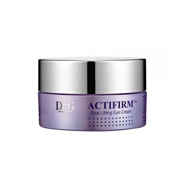 Actifirm Dr. GDr. G<br>Лифтинг крем для глаз содержит активатор стволовых клеток (Eternal-P), эластичный компонент (Activision farm), низкомолекулярный коллаген, антарктицин и др. Активная формула Activision farm обеспечивает ингредиентам проникновение даже в глубочайшие слои дермы, что высокоэффективно стимулирует синтез межклеточного вещества, поддерживает эластичность, упругость. Продукт обладает прекрасным увлажняющим эффектом, способствует регенерации тканей, синтезу коллагена, являющегося основнымстроительным материалом клеток.<br>        <br>Лифтинг крем для глаз содержит активатор стволовых клеток (Eternal-P), эластичный компонент (Activision farm), низкомолекулярный коллаген, антарктицин и др. Активная формула Activision farm обеспечивает ингредиентам проникновение даже в глубочайшие слои дермы, что высокоэффективно стимулирует синтез межклеточного вещества, поддерживает эластичность, упругость. Продукт обладает прекрасным увлажняющим эффектом, способствует регенерации тканей, синтезу коллагена, являющегося основным строительным материалом клеток.<br>Продукт также обладает мощным антиоксидантным воздействием, стабилизирует проникновение необходимых питательных веществ в дерму, значительно улучшая ее. Входящий в состав средства антарктицин (гликопротеин) обладает криопротекторными свойствами с реструктурирующим эффектом, который активно защищает поверхность от сухости, стимулирует процесс регенерации, когезии кожных тканей, сокращая глубину морщин, ускоряя заживляющий процесс.<br>Низкомолекулярный коллаген (состоит из элементов - пептидов) легко поглощается дермой, интенсивно наполняет ее упругостью, нанося деформации своего рода превентивный удар. Входящие в состав коллагеновые волокна поддерживают кожные ткани изнутри, придают ей необычайную свежесть, гладкость, что делает коллаген столь важным для лица, сохранения его молодости. Продукт способен впитывать и удерживать влагу в подкожной прослойке, обеспечивая дерме постоянную увлажненность и реализацию важ