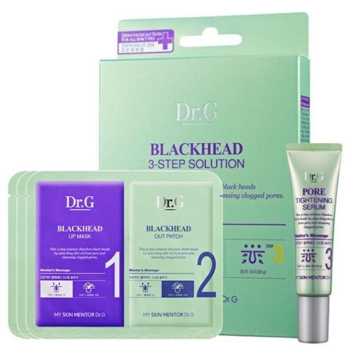 Dr. GDr. G<br>Набор для очищения кожи носа из трех средств&amp;nbsp;Dual Patch Black Head 3-STEP Solution Dual Patch.<br>Набор для системного ухода за проблемной кожей носа. Содержит специальный комплекс для очищения пор, марокканскую глину, экстракт гамамелиса.<br>Клинические испытания показали, что применение марокканской глины почти на 80% уменьшает сухость кожи, более чем на 40% снижает раздражение и убирает шелушение, на четверть улучшает упругость и на 100% нормализует текстуру.<br>Экстракт гамамелиса содержит дубильные вещества, танины, флавоноиды. Упрочняет стенки сосудов, стимулирует микроциркуляцию крови, предотвращает негативное воздействие со стороны свободных радикалов.<br>Набор для очищения включает в себя 3 средства: 2 вида пластырей и сыворотку.<br>Трехступенчатая система действия:<br><br>Шаг №1. Пластырь для открытия пор. Подталкивание угрей к выходу.&amp;nbsp;Раскрывает поры, &amp;laquo;плавит&amp;raquo; кожное сало, выталкивая наружу.<br>Шаг №2. Пластырь для очистки пор. Выход угрей наружу.&amp;nbsp;Сальные пробки адсорбируются. Удаляются черные точки.<br>Шаг №3. Сыворотка для сужения пор. Затягивание пор.&amp;nbsp;Сыворотка расслабляет кожу после чистки, увеличивает тонус, улучшает прочность стенок сосудов, нормализует работу сальных желез.<br><br>Набор для очищения подходит для всех типов кожи.<br>Способ применения:<br>Шаг №1. Поместите пластырь для открытия пор на кожу, слегка надавите и зафиксируйте на 10 или 15 минут.<br>Шаг №2. Поместите пластырь для очистки пор на кожу носа, слегка надавите и зафиксируйте на 15 или 20 минут. Аккуратно и бережно уберите пластырь после высыхания, начиная снимать от края.<br>Шаг №3. Нанесите сыворотку для сужения пор на область вокруг области носа. Равномерно распределите.<br><br>Линейка: Dr. G<br>Объем мл: 20<br>Пол: Женский