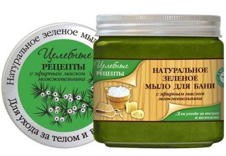 Зелёное с эфирным маслом можжевельника EFTI CosmeticsEFTI Cosmetics<br>Мыло с эфирным маслом можжевельника. Эфирное масло можжевельника обладает противовоспалительным, ранозаживляющим и антисептическим действием, в сочетании с натуральными целебными травами увлажняет и питает кожу.<br>        <br>Нежное мыло на основе натурального эфирного масла можжевельника. Содержание натуральных экстрактов оказывает оздоравливающее действие на кожу и волосы и дополняет целебное действие эфирного масла можжевельника. Мягкая обильная пена бережно очищает кожу и волосы, надолго обеспечивая ощущение свежести и комфорта. Аромат можжевельника успокаивает и помогает снять стресс.<br><br>Линейка: Зелёное с эфирным маслом можжевельника EFTI Cosmetics<br>Объем мл: 500<br>Пол: Женский