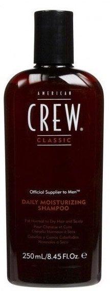 American CrewAmerican Crew<br>Производство: США Увлажняющий шампунь от компании American Crew это шампунь, который отлично очищает и увлажняет волосы по всей их длине. Предназначен для сухих и нормальных волос. Входящее в состав рисовое масло придает небывалый блеск и упругость локонам. А благодаря натуральным экстрактам тимьяна и розмарина волосы станут гораздо более влажными и привлекательными. Применение шампуня American Crew Daily Moisturizing Shampoo придаст необходимую мягкость и шелковистость вашим волосам.<br>Способ применения: применяя шампунь American Crew Daily Moisturizing Shampoo, его необходимо разбавить водой и равномерно массирующими движениями распределить по влажным волосам. Хорошо вспеньте и тщательно промойте голову теплой водой. После применения увлажняющего средства волосы становятся легко расчесываемыми и получают роскошное сияние. При желании повторите процедуру.<br>Состав: Water (Aqua) (Eau), Sodium Laureth Sulfate (*Coconut Oil), Cocamidopropyl Betaine (*Coconut Oil), Cocamide DEA (*Coconut Oil), Polyquaternium-7, Lauryl Glucoside (*Corn), Sodium Chloride (*Natural Mineral), Quillaja Saponaria Bark Extract (*Panama Bark), Chamomilla Recutita (Matricaria) Extract (*Chamomile), Rosmarinus Officinalis (Rosemary) Leaf Extract (*Rosemary Leaves), Salvia Officinalis (Sage) Leaf Extract (*Sage Leaves), Thymus Vulgaris (Thyme) Extract (*Thyme Leaves), Oryza Sativa (Rice) Bran Oil (*Rice Bran), Polyquaternium-10 (*Plant Cellulose), PEG-12 Dimethicone, Hydrolyzed Wheat Protein (*Wheat), Glycol Stearate, Tetrasodium EDTA, Propylene Glycol, Citric Acid (*Molasses), Fragrance (Parfum), Benzyl Salicylate, Limonene, Linalool, Methylparaben, Propylparaben, Methylchloroisothiazolinone, Methylisothiazolinone.* Source<br><br>Линейка: American Crew<br>Объем мл: 1000<br>Пол: Мужской