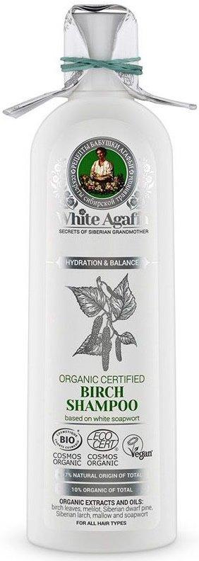 шампунь для волос органический березовый, увлажнение и баланс Бабушка Агафья 280 мл (жен)