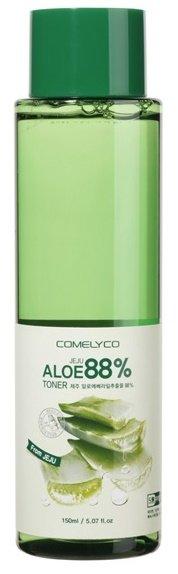 Jeju Moisture Aloe Toner ComelycoComelyco<br>Увлажняющий и успокаивающий тоник при использовании после умывания улучшает текстуру и восстанавливает PH.&amp;nbsp;Экстракт алоэ вера обеспечивает многоуровневую защиту кожи.<br>Содержит свыше 160 составных частей. Обладает смягчающими, увлажняющими свойствами.<br>Эффективен для увядающей кожи, угревой сыпи. Оказывает мощное заживляющее и регенерирующее действие.<br><br>Линейка: Jeju Moisture Aloe Toner Comelyco<br>Объем мл: 200<br>Пол: Женский