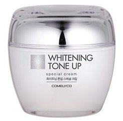 Whitening Tone Up Special Cream ComelycoComelyco<br>&amp;lt;p&amp;gt;Крем усиливает кровообращение, улучшает цвет кожи и выравнивает ее рельеф. Стимулирует регенерацию кожи, осветляет, упреждая возрастную пигментацию.&amp;nbsp;Экстракт жемчуга помогает поддерживать уровень влаги кожи и предотвращает ее сухость, также его кристаллическое строение отражает УФ радиацию.&amp;nbsp;&amp;lt;/p&amp;gt;.<br>        <br>Экстракт жемчуга помогает поддерживать уровень влаги кожи и предотвращает ее сухость, также его кристаллическое строение отражает УФ радиацию.<br>Усиливает кровообращение, улучшает цвет кожи и выравнивает ее рельеф. Стимулирует регенерацию кожи, осветляет, упреждая возрастную пигментацию.<br>Повышает яркость лица и борется с тусклым цветом лица, великолепная блестящая кожа.<br>Действие:<br><br>уменьшает морщины;<br>содержит жемчужный порошок:&amp;nbsp;Драгоценные камни жемчуга в виде порошка создают цветовой эффект, благодаря которому кожа поддерживает ясный, живой оттенок словно молоко;<br>защищает кожу&amp;nbsp;и придает эффект осветления.<br><br><br>Линейка: Whitening Tone Up Special Cream Comelyco<br>Объем мл: 50<br>Пол: Женский