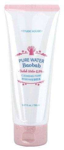 Pure Water Baobab Cleansing Foam Etude HouseEtude House<br>Освежающая пенка мягко очищает кожу лица от загрязнений, одновременно с этим увлажняет и оберегает от возникновения неприятного ощущения сухости и стянутости кожи. Благодаря высокому содержанию увлажняющих компонентов, в том числе 8% экстракта баобаба, пенка подходит даже для самой чувствительной и раздраженной кожи. Экстракт баобаба помогает справиться с сухостью и тусклостью кожи, улучшает ее эластичность, смягчает и разглаживает. Благодаря экстракту баобаба улучшается функция клеточной регенерации. Мощное антиоксидантное воздействие снижает разрушительную активность свободных радикалов. Экстракт моринги оказывает непревзойденное бактерицидное и обеззараживающее действие, выводит токсины и стимулирует обменные процессы в тканях, благодаря чему омолаживает кожу. Ускоряет заживление повреждений кожи, снимает раздражения, смягчает и увлажняет кожу, нейтрализует действие свободных радикалов и великолепно защищает от негативного воздействия факторов окружающей среды. Разглаживает морщины и улучшает цвет лица. При регулярном применении пенки с экстрактом баобаба оптимально увлажненная кожа лица становится более упругой, разглаживается, выравнивается ее тон, лицо выглядит свежее и моложе. Способ применения: вспенить средство и нанести на влажную кожу лица мягкими массажными движениями, затем смыть теплой водой. Состав: Water, Sorbitol, Adansonia Digitata Fruit Extract, Myristic Acid, Lauryl Hydroxysultaine, Potassium Hydroxide, Lauric Acid, Butylene Glycol, Nelumbo Nucifera Flower Extract, Prunus Mume Fruit Extract, Nasturtium Officinale Extract, Lecithin, Acrylates/C10-30 Alkyl Acrylate Crosspolymer, Moringa Pterygosperma Seed Extract, Stearic Acid, Palmitic Acid, Polyquaternium-7, Peg-14M, Glycerin, Sodium Chloride, Disodium Edta, Titanium Dioxide (Ci 77891), Sodium Benzoate, Phenoxyethanol, Fragrance.<br><br>Линейка: Pure Water Baobab Cleansing Foam Etude House<br>Объем мл: 150<br>Пол: Женский