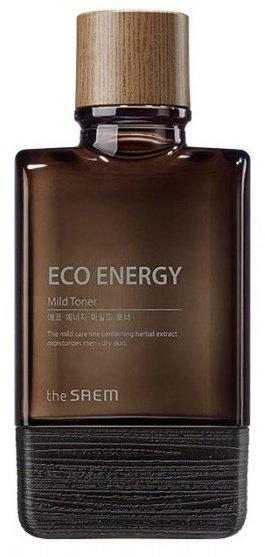 Eco Energy Mild Toner SaemSaem<br>Энергетический тонер для комплексного и бережного ухода за мужской кожей. Он входит в серию средств, созданных на основе натуральных масел и растительных экстрактов. Продукт отлично очищает кожу и оберегает ее от обезвоживания.<br>Eco Energy Mild Toner&amp;nbsp;содержит:<br><br>Экстракт лимона &amp;ndash; природный антиоксидант, который ускоряет процессы обмена, осветляет пигментацию и не допускает ее повторного появления.<br>Экстракты лаванды, розмарина и тимьяна расслабляют кожу, снимают воспаления, обеспечивают быстрое заживление ран и порезов.<br>Гамамелис оказывает противовоспалительное действие, устраняет раздражения, сужает поры и улучшает цвет лица.<br>Гиалуроновая кислота поддерживает необходимый уровень увлажнения, создает на поверхности кожи незаметную пленку, которая задерживает влагу внутри.<br>Экстракт мяты прекрасно освежает, снимает боль, уменьшает отечность, избавляет от усталости и следов стресса.<br>Масла базилика, герани, муската и цитрусовых усиливают положительное действие других компонентов, способствуют активному восстановлению клеток.<br><br>Eco Energy Mild Toner подарит коже приятную свежесть и прохладу, наполнит жизненной энергией. Даже самая огрубевшая кожа станет гладкой и мягкой, к ней вернется упругость и сила. Тонер&amp;nbsp;косметической компании The Saem&amp;nbsp;имеет приятный аромат, который дарит хорошее настроение и заряд бодрости на целый день.<br>Способ применения: средство нанести на кожу аккуратными похлопывающими движениями.<br><br>Линейка: Eco Energy Mild Toner Saem<br>Объем мл: 150<br>Пол: Мужской