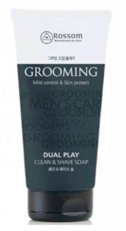 Grooming Dual Play Mild Control&amp;Skin Protect MukunghwaMukunghwa<br>Жидкое мыло предназначено для мужчин, помогает глубоко очищать кожу лица и ухаживать за ней. Многофункциональная формула средства позволяет решить сразу несколько распространенных кожных проблем.<br>        <br>Rossom Grooming Mild Control &amp;amp; Skin Protect Dual Play Clean &amp;amp; Shave Soap мужское жидкое мыло для умывания и бритья<br>Жидкое мыло предназначено специально для мужчин. Прекрасно очищая кожу от загрязнений и излишков кожного жира, одновременно с этим служит средством для бритья.<br>Мыло глубоко очищает кожу, смывает с нее загрязнения, излишки себума и ороговевшие клетки.Создает пышную и мягкую пену, благодаря чему бритье становится безопасным и приятным.Экстракты зеленого чая, мяты и другие, увлажняют и успокаивают кожу, способствуют заживлению акне и микротравм после бритья.<br>Мыло не оставляет ощущения стянутости или сухости, кожа после его применения становится свежей и ухоженной, гладкой и упругой, выглядит моложе.<br>Способ применения: вспенить средство и нанести массажными движениями на мокрое лицо, затем смыть теплой водой или побриться и потом смыть.<br><br>Линейка: Grooming Dual Play Mild Control&amp;Skin Protect Mukunghwa<br>Объем мл: 150<br>Пол: Мужской