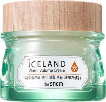 Iceland Hydrating Water Volume Cream(For Oily Skin) SaemSaem<br>Необычайно заботливый увлажняющий крем основанный на минеральной ледниковой воде из Исландии и морских водорослей, акртических ягод, а также исландского мха. Это прекрасное соединение природных компонентов в косметическом средстве. Исландская вода из тающих ледников, снежного покрова добывается из вулканических глубин артезианского источника и признана одной из самых чистых на всей планете, т.к. проходит наилучшую фильтрацию - естественную.<br>Помимо этого преимущества, она также насыщена оксигеном и даже после разморозки не теряет ценные свойства. Специалисты компании для изготовления этого увлажняющего крема использовали Hyaluronic Filling Spheres технологию, благодаря которой активные компоненты, насыщенные гиалуроновой кислотой, при попадании на кожу высокоэффективно разглаживают ее поверхность, проникая в ее самые глубокие слои и активизируя благотворное влияние.<br>Исландский мох - это уникальный, необычайно удивительный ингредиент - он представляет симбиоз водорослей с грибами, содержит в себе различные микроэлементы, витамины. Компонент является естественным антибиотиком, обладающим довольно мощной антимикробной активностью, а также оказывает общеукрепляющее, антисептическое, ранозаживляющее воздействие.<br>Морские водоросли - прекрасный источник аминокислот, полисахаридов, витаминов, минеральных веществ. Данный ингредиент прекрасно увлажняет, питает кожу, устраняет покраснения, успокаивая её и снимая раздражения. Стоит заметить, что экстракт морских водорослей способствует регенерации клеток дермы, обладает довольно высокими антиоксидантными свойствами, выводит токсины, а также уменьшает отечность. Подвергшиеся естественной заморозке ягоды, тонизируют, обладают необычайно мощной жизненной силой, витаминами, которыми они насыщают нашу кожу.<br>For Oily Skin&amp;nbsp;&amp;ndash; для жирной кожи (зеленая баночка). Имеет наиболее легкую, нежирную текстуру, что позволяет дарить коже глубокое увлажне