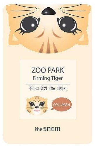Zoo Park Firming Tiger SaemSaem<br>Серия одноразовых тканевых масок увлажняющего, питающего и восстанавливающего действия.<br>В основе&amp;nbsp;Zoo Park Mask Sheet&amp;nbsp;эссенция с различным набором активных компонентов, которые обеспечивают высокую эффективность в уходе за кожей лица разных типов.<br>Тканевые маски в виде милых зверюшек позволяют ухаживать за кожей лица весело и непринужденно.&amp;nbsp;Каждая из масок&amp;nbsp;косметического бренда The Saem&amp;nbsp;выполнена в виде забавной мордочки животного, отличается по типу действия на кожу.<br>Тканевые маски пропитаны гаилуроновой кислотой (глубоко увлажняет кожу на всех уровнях и предупреждает потерю эпидермальной влаги и обезвоживания кожи), а также другими полезными компонентами, в зависимости от действия маски.<br>Маска Zoo Park Firming Tiger &amp;ndash; тигр. Содержит коллаген, разглаживающий и укрепляющий кожу, сохраняющий влагу. Маска обеспечивает лифтинг действие, избавляя от морщин.<br>Способ применения: на очищенную кожу лица наложить маску, плотно прижать, оставить не менее, чем на 15 минут. Оставшееся вещество разглаживающими движениями вбить в кожу.<br><br>Линейка: Zoo Park Firming Tiger Saem<br>Объем мл: 25<br>Пол: Женский