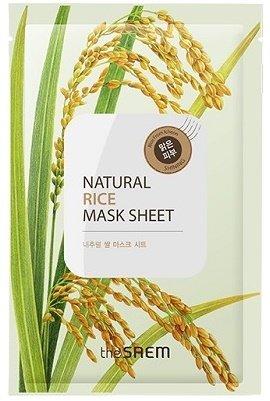 Natural Rice Mask Sheet SaemSaem<br>Натуральная хлопковая маска для лица THE SAEM Natural Rice Mask Sheet пропитана специальным составом с натуральным экстрактом риса, экстрактом опунции и т.д. Экстракт риса делает кожу гладкой, нежной и шелковистой. Идеально подходит для сухой, стареющей кожи. Он увлажняет кожу, активизирует обменные процессы и разглаживает морщины.<br>        <br>Возрастные ограничения:&amp;nbsp;не имеет ограничений.<br>Листовые маски удобны в применении и очень эффективны, поскольку позволяют сыворотке воздействовать на кожу длительное время.<br>Маски серии The Saem Natural Mask Sheet представлены в нескольких вариантах и отличаются основным компонентом. Все маски содержат растительные экстракты с антиоксидантными, омолаживающими и защитными свойствами.<br>Натуральная хлопковая маска для лица THE SAEM Natural Rice Mask Sheet пропитана специальным составом с натуральным экстрактом риса (1000 мг), экстрактом опунции и т.д.<br>Экстракт риса&amp;nbsp;делает кожу гладкой, нежной и шелковистой. Идеально подходит для сухой, стареющей кожи. Он&amp;nbsp;увлажняет кожу, активизирует обменные процессы и разглаживает морщины.<br>Свойства продукта:<br><br>увлажняет и питает;<br>тонизирует, стимулирует клеточный метаболизм;<br>восстанавливает и заживляет повреждения;<br>приостанавливает процессы увядания и омолаживает;<br>выравнивает цвет лица<br>усиливает природную защиту кожи;<br>устраняет воспаление и раздражение;<br>оберегает от бактерий и грибков.<br><br>Компоненты, входящие в состав всех масок:<br><br>Экстракт лакрицы (солодки) в восточной медицине пользуется почётом наравне с женьшенем благодаря противовоспалительным, антимикробным, успокаивающим и восстанавливающим свойствам. В косметике лакрицу используют для осветления кожи и выравнивания цвета лица. Этот экстракт стимулирует выработку коллагена, дарит коже упругость и молодость.<br>Экстракт лимонника китайского нормализует микроциркуляцию крови, укрепляет иммунитет кожи, нейтрализует и выводит токси