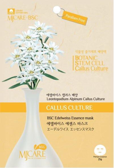 Bsc Edelweiss essence mask MijinMijin<br>Тканевая маска для лица с растительными стволовыми клетками эдельвейса.&amp;nbsp;Препятствует образованию свободных радикалов, улучшает цвет лица, разглаживает мимические морщинки, позволяет надолго сохранить красоту и молодость кожи.<br>        <br>Новая серия масок от&amp;nbsp;Mijin&amp;nbsp;с&amp;nbsp;основой из 100% хлопка одобрена трендом LOHAS. Пропитана составом Premium Essence без парабенов для интенсивного ухода за кожей.&amp;nbsp;Биоактивные стволовые клетки проникают глубоко внутрь, запуская процессы регенерации и восстановления клеток кожи, и увеличивают благотворное воздействие основного экстракта.<br>Edelweiss&amp;nbsp;&amp;ndash; Тканевая маска для лица с растительными стволовыми клетками эдельвейса.&amp;nbsp;Препятствует образованию свободных радикалов, улучшает цвет лица, разглаживает мимические морщинки, позволяет надолго сохранить красоту и молодость кожи.<br><br>Линейка: Bsc Edelweiss essence mask Mijin<br>Объем мл: 25<br>Пол: Женский