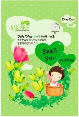 Mj Care Daily Dewy Snail mask pack Mijin 25 мл (жен)