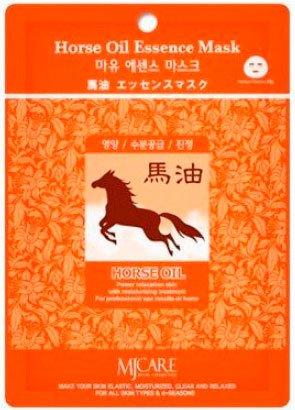 Horse Oil Essence Mask MijinMijin<br>Маска для лица с лошадиным жиром подходит для любого типа кожи, но в большей степени для сухой и склонной к шелушеню.<br>        <br>Mijin Cosmetics&amp;nbsp;является ведущим корейским производителем тканевых масок для лица, используя самые последние технологии и разработки в этой области. Тканевые маски Mijin призваны решить разнообразные проблемы кожи лица. Просты и удобны в использовании.Тканевая маска для лица с лошадиным жиром подходит для любого типа кожи, но в большей степени для сухой и склонной к шелушеню. Ее состав очень разнообразен. Такие компоненты, как алое вера, барбарис, имбирь, зеленый чай, экстракты центеллы азиатской и портулак оказывают на кожу противовоспалительное и успокаивающее действие, выравнивают структуру, способствуя омоложению.А вот основной компонент этой маски - лошадиный жир по своим свойствам значительно превосходит растительные. Жир содержит витамины и кислоты, которые идеально воспринимаются кожей человека и абсолютно гипоаллергенны. Лошадиный жир максимально защищает кожу от обезвоживания, питает и смягчает ее, восстанавливает поврежденные участки кожного покрова, замедляя процессы старения, ведь недаром&amp;nbsp; в странах Азии лошадиный жир считается целебным для организма.Способ применения: нанести маску на очищенную кожу лица. Оставить на 20-30 минут. Снять маску и распределить остатки по поверхности кожи. Не смывать.<br><br>Линейка: Horse Oil Essence Mask Mijin<br>Объем мл: 23<br>Пол: Женский