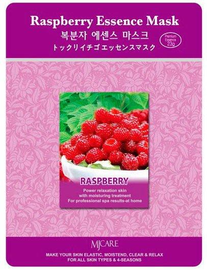 Raspberry Essence Mask MijinMijin<br>Маска с малиной обеспечивает упругость и румянец для кожи, подверженной возрастным изменениям. Ускоряет процессы клеточной регенерации, стимулирует процессы выработки в коже коллагена и эластина, придает коже упругость, разглаживает морщины.<br>        <br>Тканевая маска, которую отличает удивительно вкусный аромат малины, направлена на заметное улучшение упругости и уровня тонуса кожи. Она проводит восстановление клеток, повышает выработку коллагена и эластина (известных веществ молодости), работает над тем, чтобы устранить морщины.<br>Цвет лица маска делает свежим, здоровым и равномерным, ну а дополняет эту картину здоровый румянец. Маска стоит недорого, и эти деньги целиком себя оправдывают.<br>Спустя определенное время ее применения, здоровье и красота вашей кожи существенно улучшатся, ну а аромат малины будет радовать вас на протяжении всего дня, заряжать позитивом, дарить бодрость и вдохновлять.<br>Способ применения: поместите маску на очищеное лицо обеспечив хороший контакт с&amp;nbsp; кожей лица по всей площади нанесения.Снимите через 20 минут. Оставшуюся на лице эссенцию аккуратно разгладьте пальцами по косметическим линиям для лучшего впитывания в кожу.<br><br>Линейка: Raspberry Essence Mask Mijin<br>Объем мл: 23<br>Пол: Женский