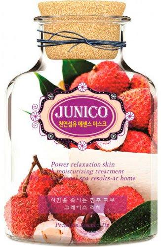 Junico Lychee Essence Mask MijinMijin<br>Маска тканевая c экстрактом личи предназначена для сухой и чувствительной кожи. Позволяет эффективно бороться с увяданием и старением кожи, а также способна снизить пагубное воздействие окружающей среды на кожу. Тканевая маска – простое в использовании и при этом очень эффективное косметическое средство. Результат от применения маски виден уже после первого применения – кожа становится увлажненной, разглаживается, приобретает здоровое сияние. Тканевая маска JUNICO Lychee Essence Mask пропитана интенсивной эссенцией, в составе которой экстракт личи. Личи – китайская слива, активно используется корейскими косметическими компаниями в составе многих средство по уходу за кожей и волосами. Экстракт личи оказывает благотворное влияние, особенно на сухую и чувствительную кожу, глубоко увлажняя, успокаивая и оздоравливая её. Маска с личи позволяет эффективно бороться с увяданием и старением кожи, сохраняет водный баланс в коже, стимулирует выработку гиалуроновой кислоты, тормозит процессы старения кожи, усиливает синтез коллагена и эластина и предохраняет их от разрушения, препятствует образованию мимических морщин, тонизирует кожу. Маска с личи снижает негативное воздействие окружающей среды, оберегает кожу от УФ-излучения. Способ применения: на очищенную кожу лица приложить маску, аккуратно разгладить, чтобы она плотно прилегала. После этого желательно расслабиться, подремать, послушать приятную музыку, чтобы мышцы лица расслабились. Через 15-20 минут маску снять, а остатки средства распределить легкими похлопывающими движениями. Рекомендуется применять маску 3-4 раза в неделю. Перед применением маску можно положить в холодильник, тогда она будет иметь освежающий и охлаждающий эффект, что особенно приятно летом. В холодное время года можно опустить упаковку с маской в емкость с теплой водой (50- 60°С) на 2-3 минуты, маска будет оказывать согревающий эффект.<br><br>Линейка: Junico Lychee Essence Mask Mijin<br>Объем мл: 25<br>Пол: Жен