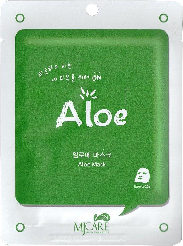 Mj on Aloe mask pack MijinMijin<br>Маска все-в-одном для лица сильновпитывающая и очень эффективная для стягивания пор кожи и удаления отходов. Это сохраняет в коже влагу и упругость в течение 24 часов. Ее функции одобрены KFDA, маска может значительно помочь с отбеливанием кожи и удалением морщин.<br>        <br>Серия увлажняющих тканевых масок с различным воздействием на кожу. Каждая маска пропитана гиалуроновой кислотой, которая обеспечивает глубокое и длительное увлажнение, а также оберегает кожу от потери влаги. Также в составе каждой маски различные экстракты, оздоравливающие и омолаживающие компоненты.<br>Алое&amp;nbsp;&amp;ndash; мощный природный увлажнитель, обладает заживляющим, бактерицидным и тонизирующим действием, активно стимулирует обменные процессы кожи, заживляет воспаления, запускает процессы омоложения, является природным УФ-фильтром.<br>Маска с алоэ вера увлажняет и успокаивает кожу, способствует выводу токсинов и шлаков, повышает эластичность, делает кожу свежей и здоровой.<br>Способ применения: поместите маску на очищеное лицо обеспечив хороший контакт с кожей лица по всей площади нанесения.Снимите через 10-15 минут. Оставшуюся на лице эссенцию аккуратно разгладьте пальцами по косметическим линиям для лучшего впитывания в кожу.<br><br>Линейка: Mj on Aloe mask pack Mijin<br>Объем мл: 22<br>Пол: Женский